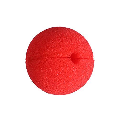 LUOEM Clown-Nase aus Schaumstoff 10 Stücke (Rot)