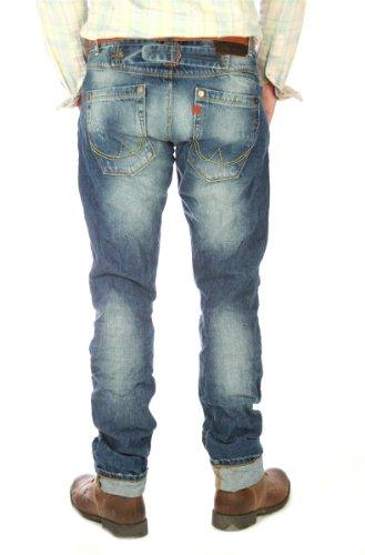 """SUPERDRY """"Slub Retro Blue"""" vintage Herren Jeans, men denim original Regiment style Blau"""