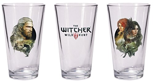 Dark Horse Deluxe-The Witcher 3Wild Hunt Geralt y Triss con Yennefer Pint Glass Set