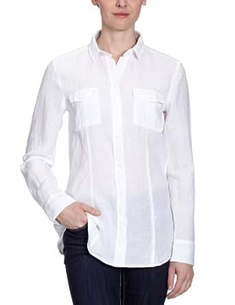 Jacques Britt Damen Bluse, 61.121502 City Bluse 1/1 lang, Gr. 38 (S), Weiß (1 - weiß)