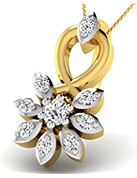 0.03 Cts Sparkles Diamond Pendant In Gold & Real Diamond