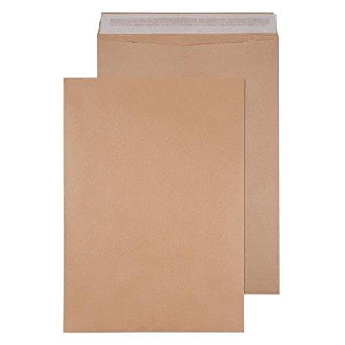 (Q-Connect KF02893 Versandtaschen, Format B4, selbstklebend, 353x250mm, 90g/m², Manila-Papier Braun, 250 Stück 458 x 324 mm (135gsm) Manilla)