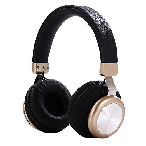 Bluetooth Kopfhörer Qoosea Wireless über Ohr Hi-Fi Stereo Headset Ohrhörer mit Noise Cancelling Mikrofon für Freisprechen und Kabel Modus für Handys/TV-PC Schwarz