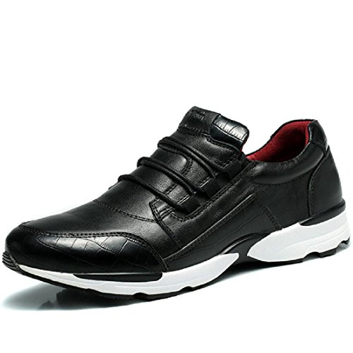 Uomo Scarpe da ginnastica Scarpe di pelle Moda Scarpe casual Scarpe sportive formatori euro DIMENSIONE 38-44 Black