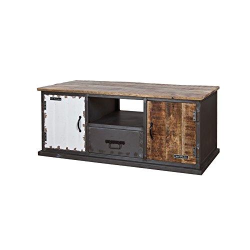 TV-Konsole rustikal, Industriestyle mit 2 Türen und 1 Schublade, Breite 130 cm (Rustikal Tv-konsole)