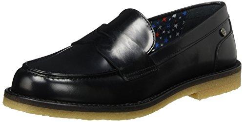 Tommy Hilfiger M1285athilde 1a, Mocassins (Loafers) Femme Noir (Black)