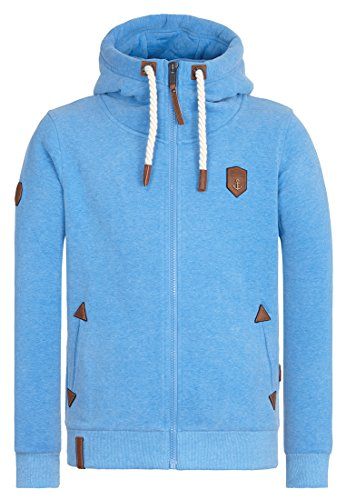 Naketano Male Zipped Jacket Schwarzkopf IV Sky Blue Melange
