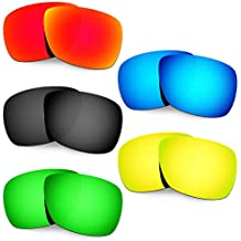Hkuco Mens Replacement Lenses For Oakley Inmate Red/Blue/Black/24K Gold/Emerald Green Sunglasses