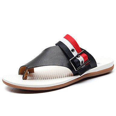 Sandálias De Verão Sapatos Masculinos Ao Ar Livre / Escritório E Chinelos De Couro Profissional / Ocasional Preto / Marrom Preto