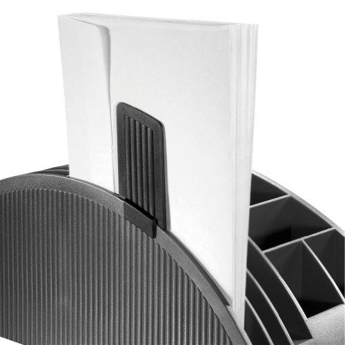 Herlitz 1601350 Big Butler V Schreibtischbox (Kunststoff mit Klebefilm/abroller, Anspitzer, Zettelhalter) 1 Stück anthrazit - 5