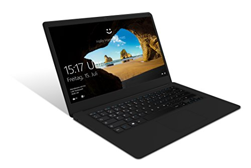 Odys Trendbook Next 14 35,8 cm (14 Zoll) Full HD IPS Display (1920 x 1080) Notebook (Intel Atom x5-Z8350, 2GB RAM, 32GB HDD, HDMI, USB 3.0, Win 10 Home) schwarz