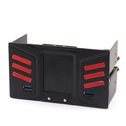 PC Lüftersteuerung Temperaturregelung 3 LCD-Display USB 3.0