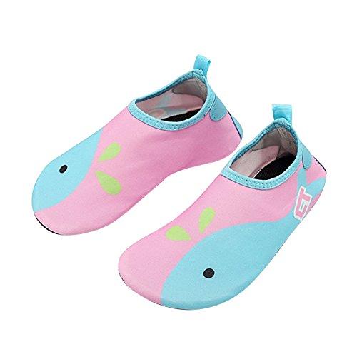 Crianças Azul Multifuncionais Água Rápida Secagem De Surf Aqua De Claro Praia Acender Exercício Meias De Descalças Piscina De Sapatos Yoga Para Rosa rFxR5rpq