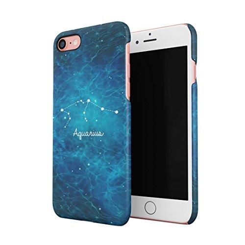 Zodiac Gemini Stars Dünne Rückschale aus Hartplastik für iPhone 7 & iPhone 8 Handy Hülle Schutzhülle Slim Fit Case cover Aquarius Stars