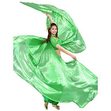 Heart&M Bauchtanz Aufführung-Bühnenrequisiten Isis Flügel(Grün Rot Königsblau Gelb,Polyester,Bauchtanz Aufführung) - fürDamen , one size (Ballett Kostüm Flügel)