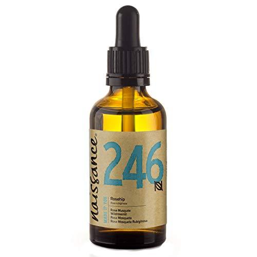 Naissance reines & natürliches Wildrosenöl / Hagebuttenkernöl (Nr. 246) 50ml - feuchtigkeitsspendend & pflegend für alle Hauttypen - für Haare, Gesicht, Haut & Nägel