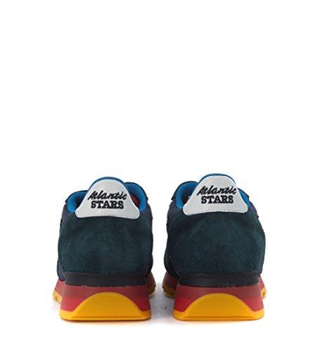 Sneaker Atlantic Stars Antares in suede blu petrolio e tessuto blu Blu