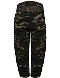 outlet store de9f1 cc60e Perfect 10 Pantalon de Camouflage Cargo idéal pour Enfants Pantalon  décontracté Pantalon Militaire pour garçons avec