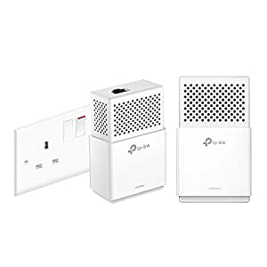 TP-Link TL-PA7010KIT 1-Port Gigabit Powerline Starter Kit, Data Transfer Speed Up to 1000 Mbps, Ideal for HD/3D/4K Video Streaming and Online Gaming, No Configuration Required, UK Plug