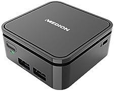 Medion Akoya S22001 (MD 34036) - Mini Ordenador de sobremesa (Intel Celeron N3350, 2 GB de RAM, eMMC de 32 GB, Intel HD Graphics, Windows 10 Home), Gris