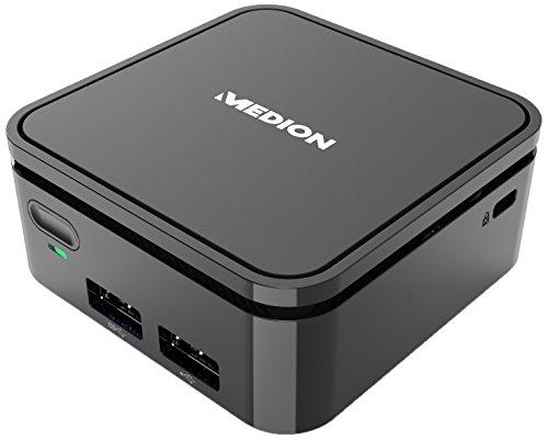 Medion Akoya S22001 (MD 34036) - Mini Desktop (Intel Celeron N3350, 2 GB RAM, eMMC de 32 GB, Intel HD Graphics, Windows 10 Home), Grey