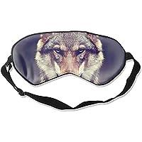 Schlafmaske, Tier-Wolf-Gesicht, Seide, leicht, atmungsaktiv, bequem, weich, mit verstellbaren Kopfgurten für Frauen preisvergleich bei billige-tabletten.eu