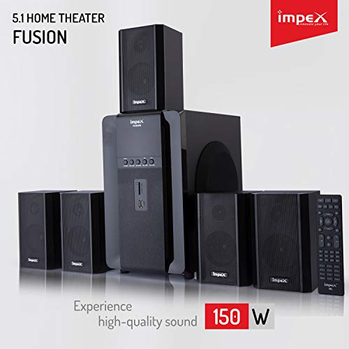 Impex 5.1 FUSION 140 W Multimedia Bluetooth Speaker System (Black)