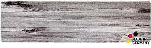 matches21 Küchenläufer Teppichläufer Teppich Läufer Motiv Holz Holzoptik grau 50x180x0,4 cm maschinenwaschbar -