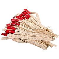 Healifty 90 piezas cuerda de afinación de piano correas de brida correas de cuerda de escalada cinturón de cuero para accesorios de instrumentos de piano herramienta de ajuste (beige)