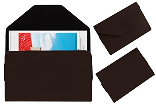 Acm Premium Pouch Case For Gionee Elife E7 Mini Flip Flap Cover Holder Brown  available at amazon for Rs.179