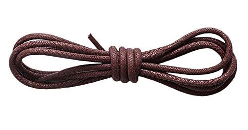 Bevalsa 1 Paar Gewachste bunte farbige runde Schnürsenkel für Business-Schuhe und leder Anzug-Schuhe Arbeitsschuhe Rundsenkel Schuhbänder 60-140cm Länge ca 3.0mm Durchmesser