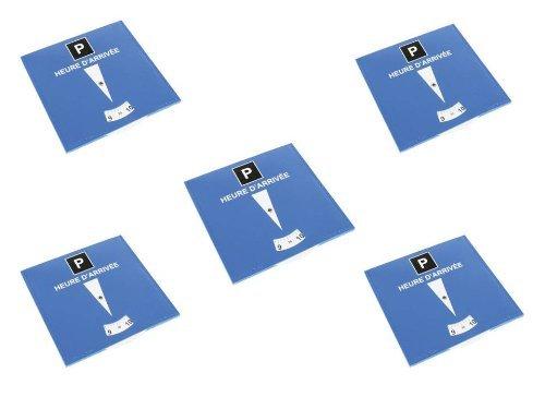 Lot de 5 disques de stationnement pour zone bleue