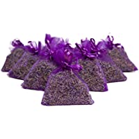 Bio Lavender de Francia || Lavanda seca pura || 10 bolsas de organza con 5 gramos de lavanda biológica certificada || Lavanda biológica certificada FR-BIO-01 || Brotes de flores de alta fragancia || Desodorizante natural || Repelente de polillas || Repelente de insectos || Decoración interior || Accesorios para el hogar || Regalo del día de la madre || Decoración del hogar || Aroma natural || Fragancia para el Hogar || Home Scents || Aroma de lavanda Pura || (Rosado) (púrpura)