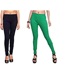 Comix Cotton Hosiery Fabric Women Legging Combo Set Of 2(AGSPL-3156-LG-10-CMB2)