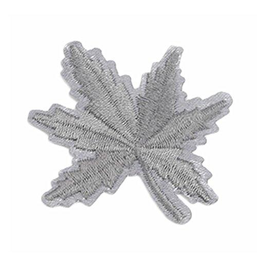Da.Wa 1 Stücke DIY Ahornblatt Stil Stickerei Tuch für T-Shirt Jeans, Grau - Stil Ein Stück Tuch