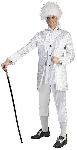 Barock Kostüm Christian Silber für Herren Gr. 52 54
