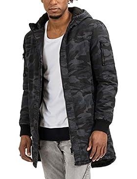 trueprodigy Casual Hombre marca Chaqueta Parka camuflaje ropa retro vintage rock vestir moda con capucha deportivo...