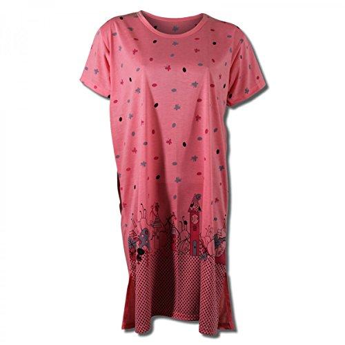 Camicia da notte donna a mezza manica con Mickey in 9 diversi colori orange/rosa