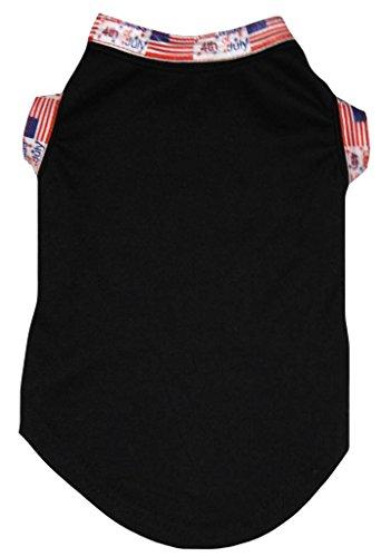Petitebelle National Hemd für Hunde, Baumwolle, einfarbig, Weiß