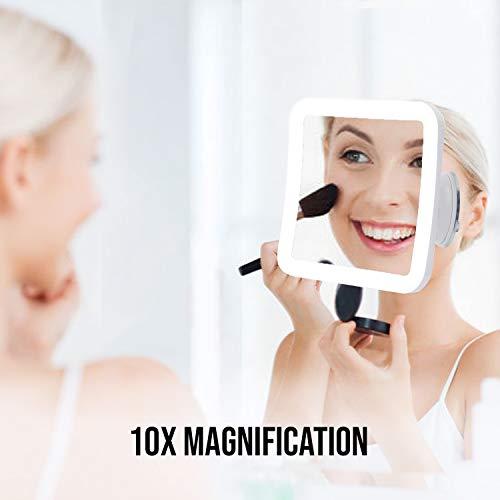 JRA Care Espejo Maquillaje Iluminado Aumento 10X Espejo