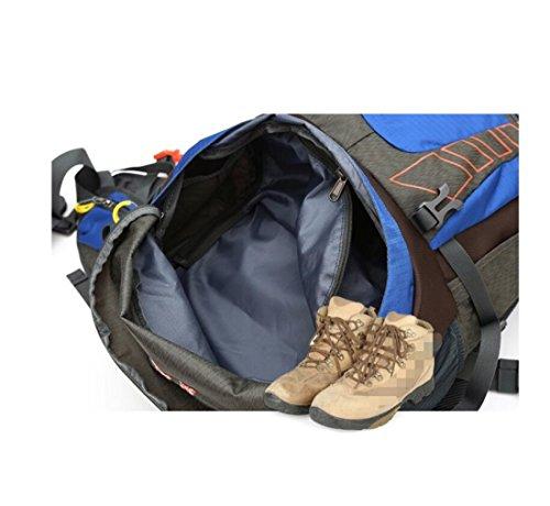 Z&N 50L GroßE KapazitäT Outdoor Sport Rucksack Wasserdichte Hochwertige Nylon-Bergsteigen Tasche Reise GepäCk Tasche Schultergurt Einstellbar SchüLer Tasche E