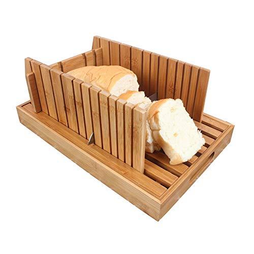 Moldes para Pan Bambú Máquina De Cortar con La Miga Bandeja De Bambú Pan De Corte For Pan Casero...