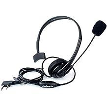 Retevis Diadema Auricular Antirruido con Micrófono PTT 2 Pines Compatible con Walkie Talkie RT24 RT22 RT27