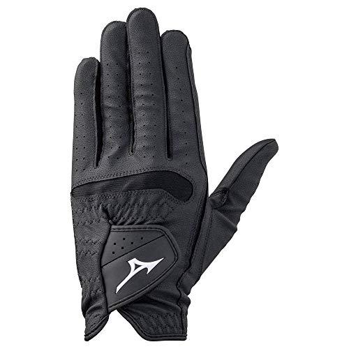 Mizuno Comfy Grip Golf Glove - Left Hand (Black, Medium Large (25 cm))