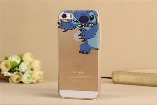 Coque rigide IPHONE 6 - Tansparente avec motif drole DESIGN case + Film de protection OFFERT STITCH 2