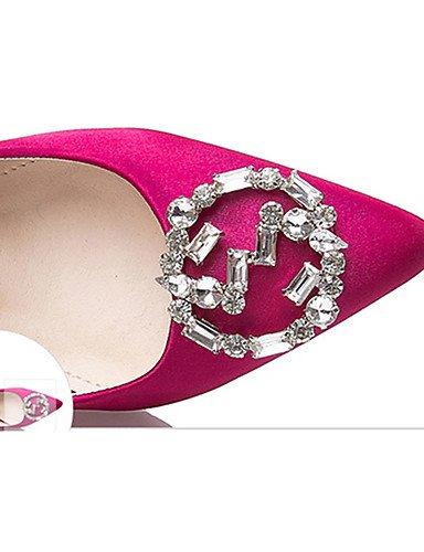 WSS 2016 Chaussures Femme-Décontracté-Noir / Vert / Rouge / Gris / Corail-Gros Talon-Talons-Talons-Laine synthétique green-us7.5 / eu38 / uk5.5 / cn38