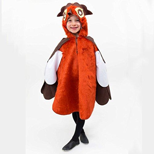Kinderkostüm Eule Olli Gr. 104- 140 Plüschkostüm Vogel Tier Fasching Karneval (Vogel Kostüme Flügel)