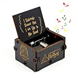 Teepao Harry Potter Music Box,Hand Crank Musical Box Carved Wooden Music Box Hand Engraved Wooden Music Box,Game of Thrones Harry Potter