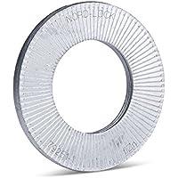 Nord-Lock Keilsicherungsscheiben NL5sp für M5 (20 Stück) aus Stahl, mit vergrößertem Außendurchmesser
