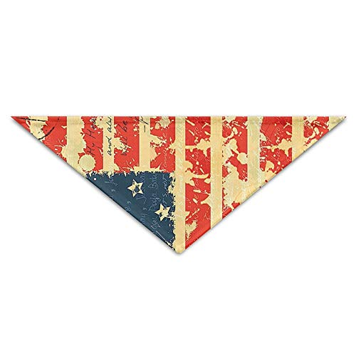 Rghkjlp Grunge American Flag Pet Bandana Triangle Dog Cat Neckerchief Bibs Scarfs Accessories for Pet Cats and Baby Puppies -